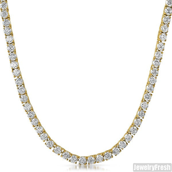 14K Gold IP Classic 51 Carat VVS Chain