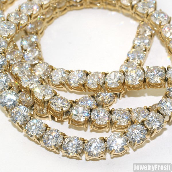 Gold Top Quality 115 Carat Flawless CZ Chain