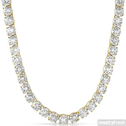 Gold Top Quality 200 Carat Flawless CZ Chain