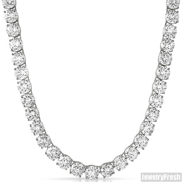 Steel No Tarnish 200 Carat Flawless CZ Chain
