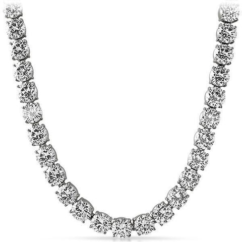 Stainless Steel 10MM Jumbo Flawless CZ Iced Out Chain