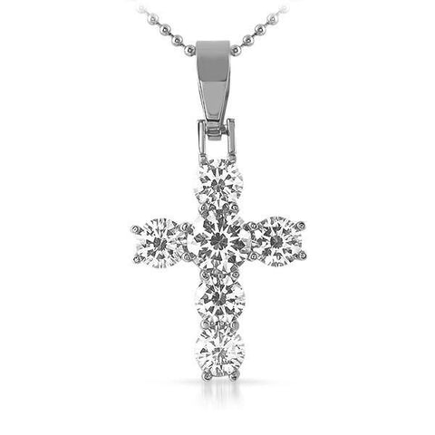 Stainless Steel Lab Diamond Mini VVS Cross