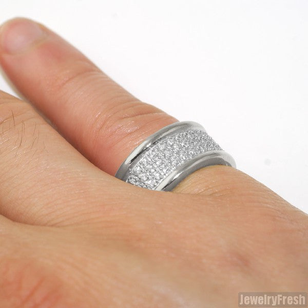 High End Eternity CZ Ring Stainless Steel
