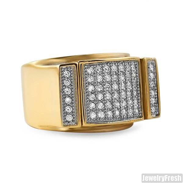 14K Gold IP Lab Diamond Mens Ring