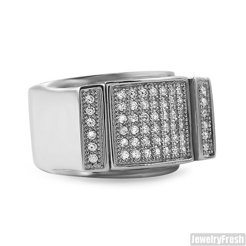 Stainless Steel Lab Diamond Mens Ring