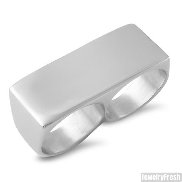 Stainless Steel Knucklebar 2 Finger Ring