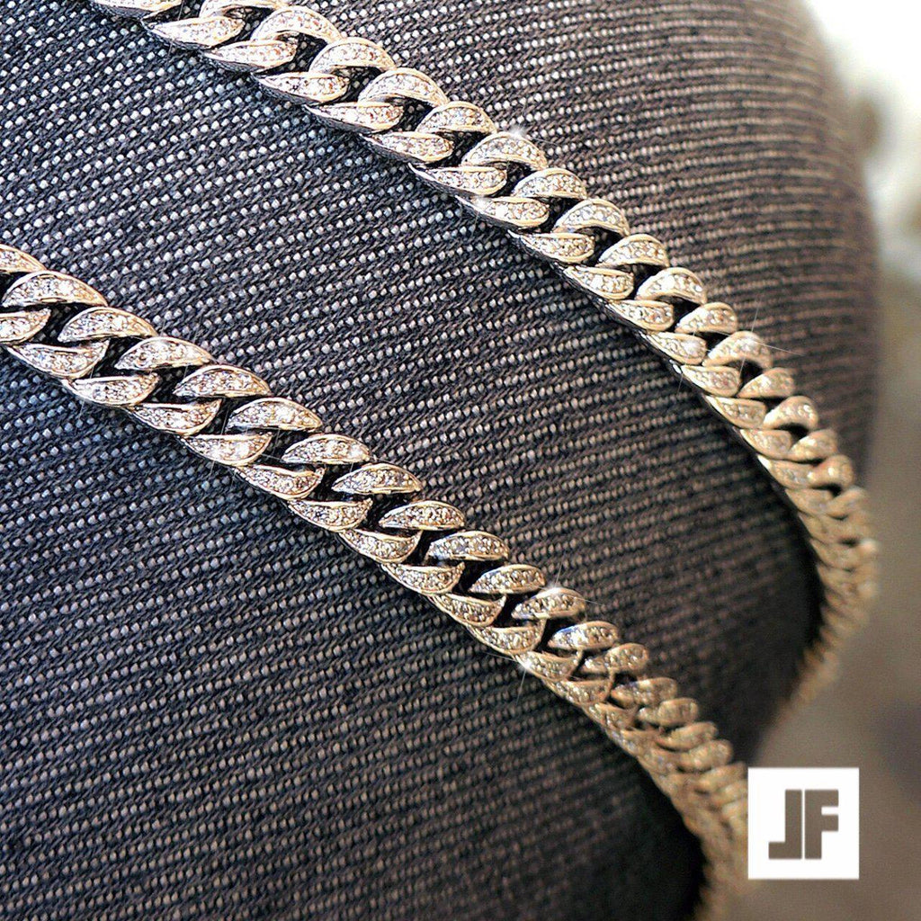 6mm 925 Sterling Silver Iced Out Cuban Chain