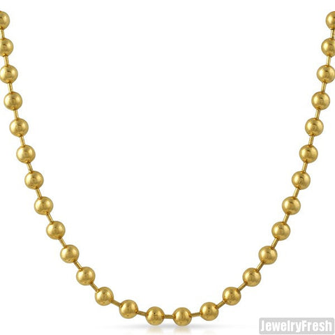 6mm 14K Gold IP Large Steel Bead Chain