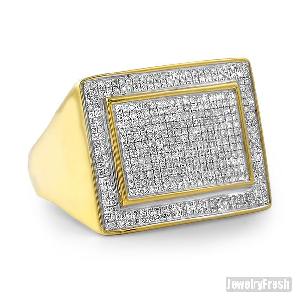 0.76 CTW Jumbo Gold Dipped Diamond Ring