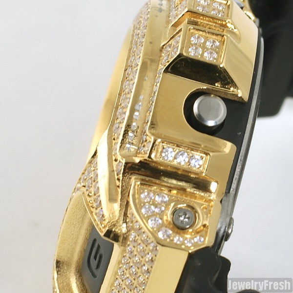 Top Quality Gold CZ Iced Out G Shock Watch