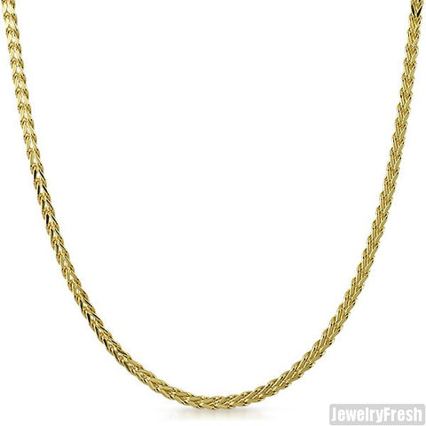 3mm Gold Dipped Hollow Franco Chain
