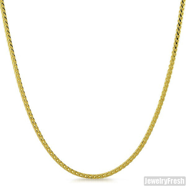 2mm 14k Gold Finish 925 Silver Franco Chain