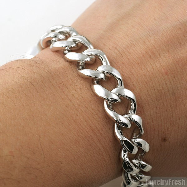 13mm Solid 925 Silver Miami Cuban Bracelet