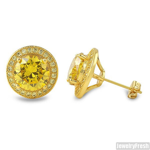 Lemonade XL 3.5 Carat CZ Halo Earrings