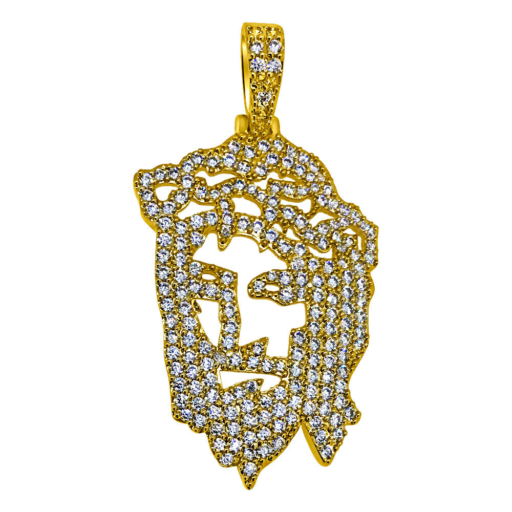 14K Gold Finish Mini Dreamchasers Jesus Piece