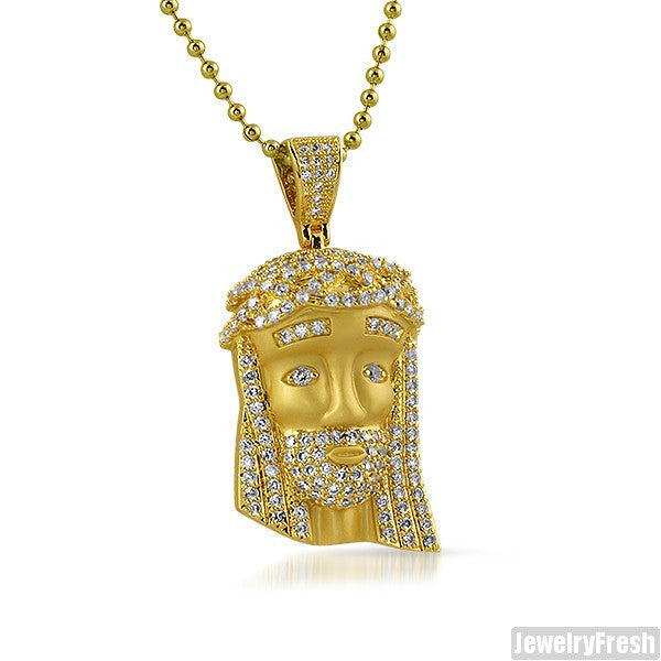 Matte Finish Gold Mini Jesus Piece Set