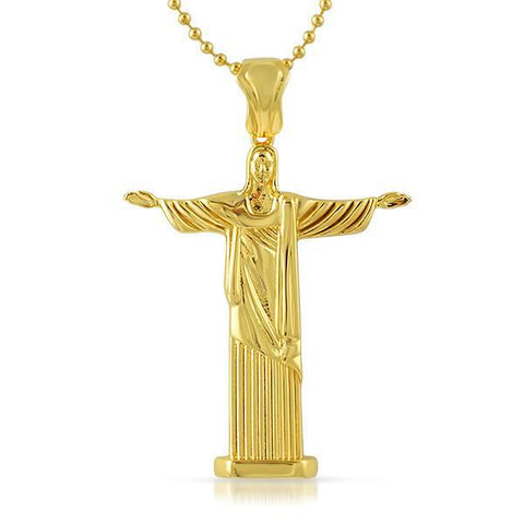 Gold Jesus Christ Full Body Pendant