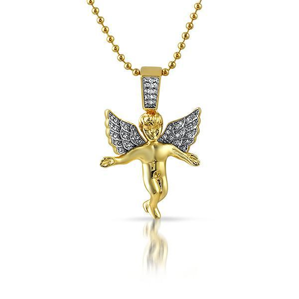 Gold Young Angel Pendant Necklace