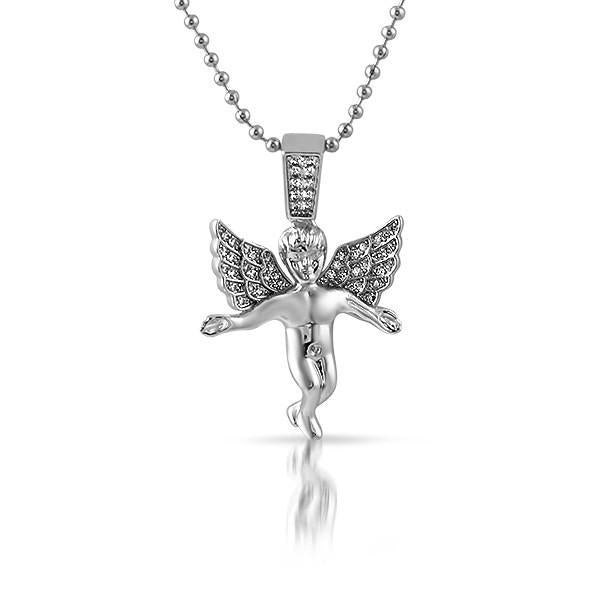 Silver Young Angel Pendant Necklace