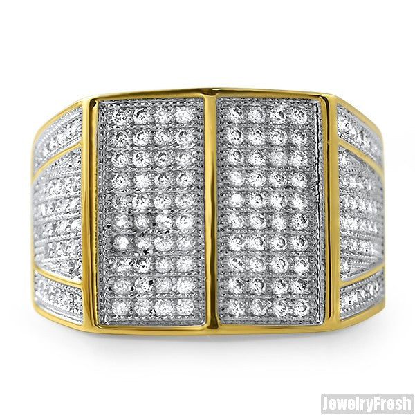 18k Gold Plated Celebrity Status VVS Mens Ring