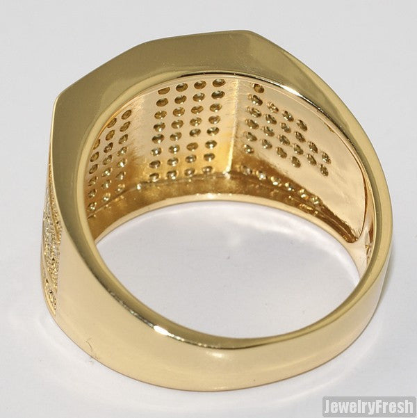 Gold Canary Yellow Celebrity Status VVS Mens Ring