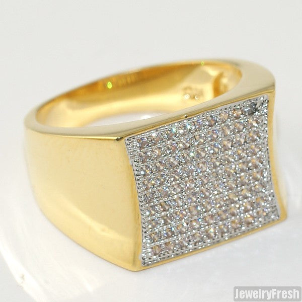18K Gold Plated Cubic Zirconia Simple Kite Ring
