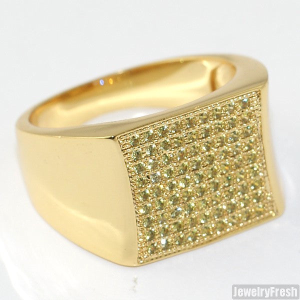 Gold Canary Yellow Cubic Zirconia Simple Kite Ring