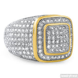 18k Gold FInish CZ 360 Iced Out Championship Ring