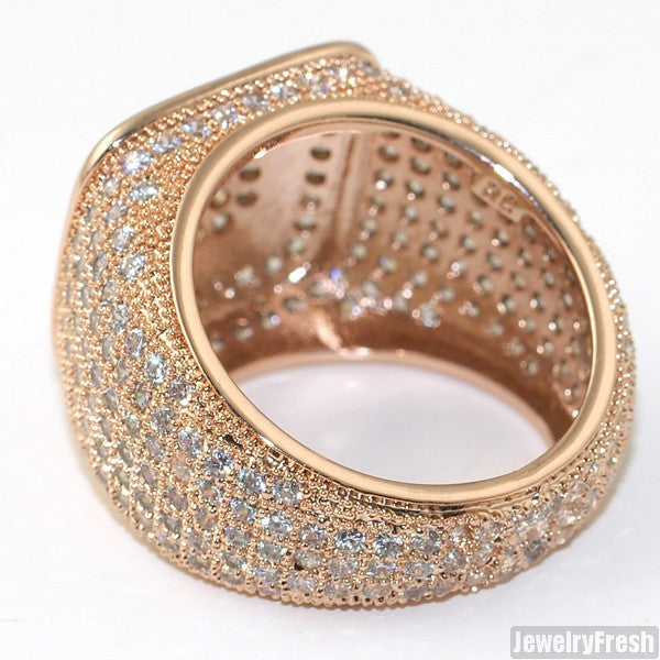 Rose Gold Finish 360 Iced Out Championship Ring