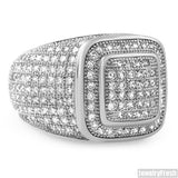 White Gold Finish 360 Iced Out Championship Ring