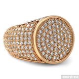 Simple Round Micropave 360 Iced Out Rose Gold Ring