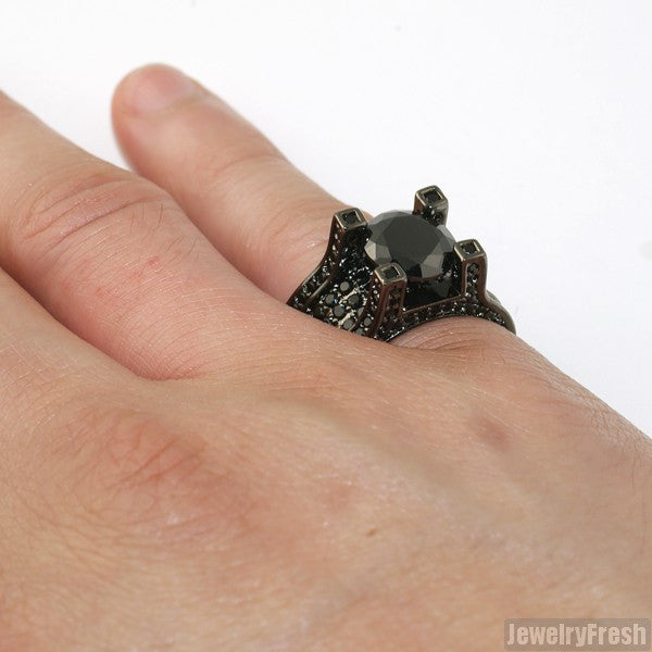 13.4 Carat All Black Luxury Ring