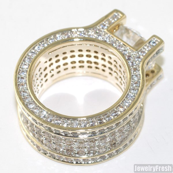 13.4 Carat Gold Sterling Silver Luxury Ring