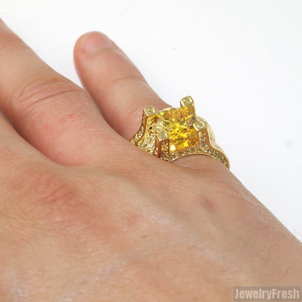 13.4 Carat Canary Gold Luxury Ring