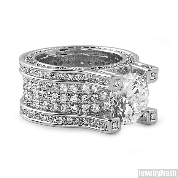 13.4 Carat Sterling Silver Luxury Ring