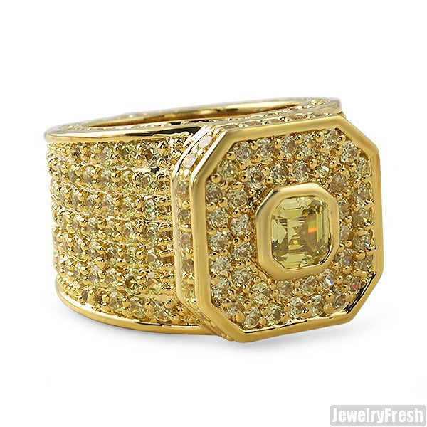 Canary Lemonade Asscher Cut Boss Ring