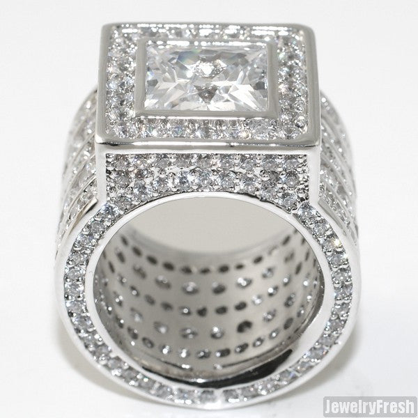 Sterling Silver Princess Cut Lavish CZ Ring