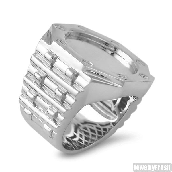 Jumbo AP Style Ring Silver Finish