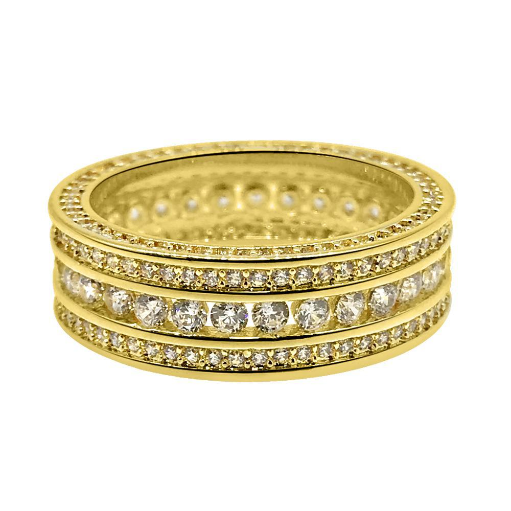 18K Gold Channel Set CZ Eternity Ring