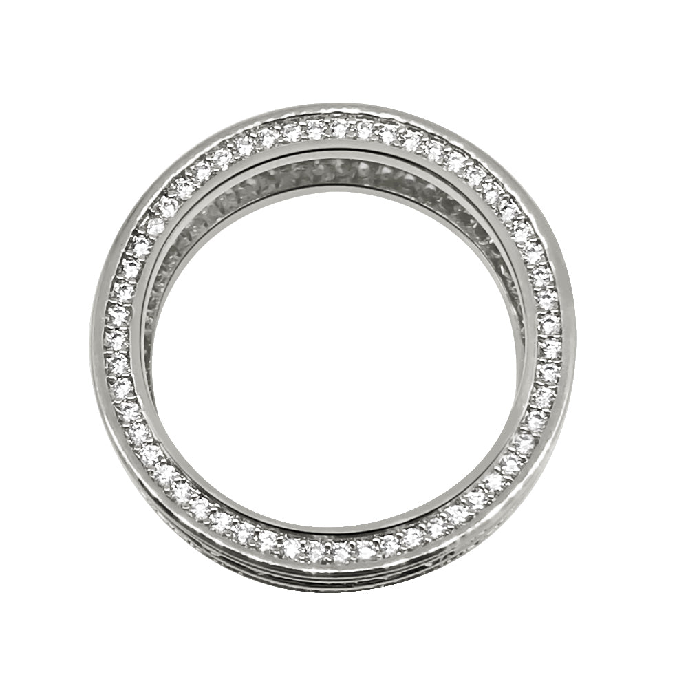 White Gold Channel Set CZ Eternity Ring