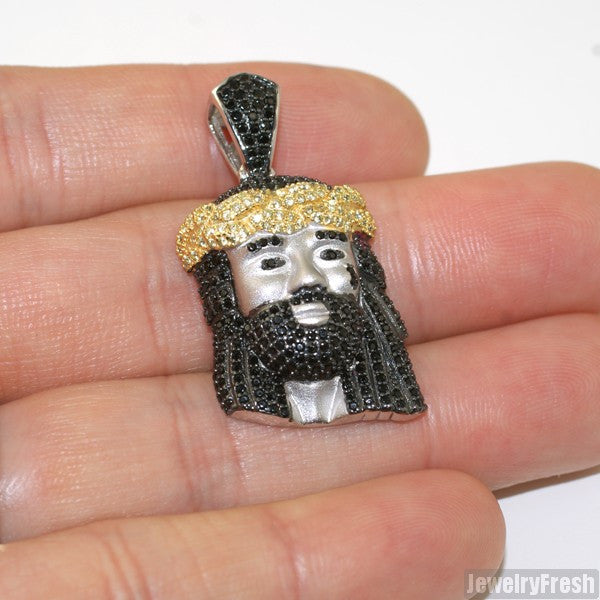 Mini Masterpiece Black and Yellow Silver Jesus