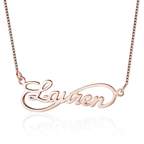Custom Women's Infinity Script Necklace