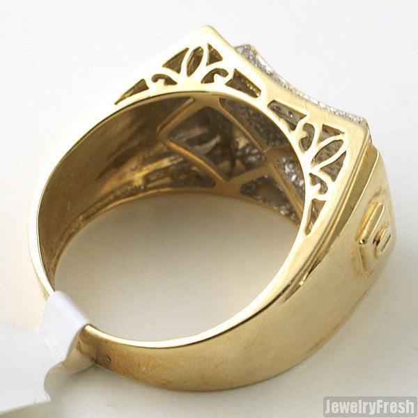 0.50 Carat Solid Gold Diamond Fancy Ring