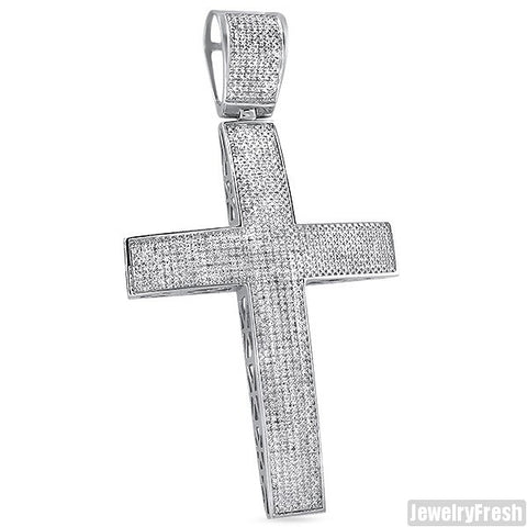2.5 Carat Jumbo Iced Out Diamond Cross