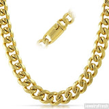 13mm 14K Gold IP Luxury Miami Cuban Chain