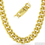 15mm 14K Gold IP Luxury Miami Cuban Chain