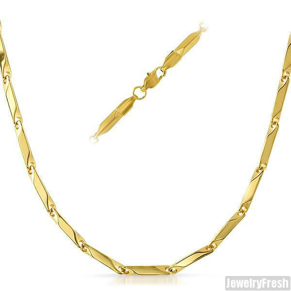 3mm 14K Gold IP Polished Pillar Chain