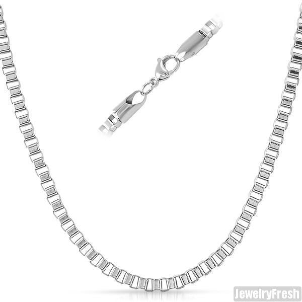 4mm Stainless Steel Venetian Box Chain
