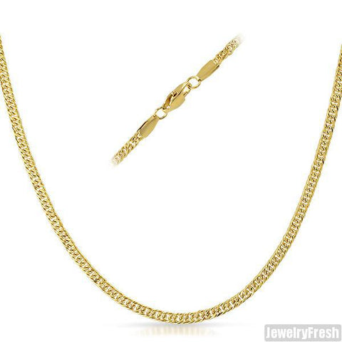 3mm 14K Gold IP Small Cuban Chain