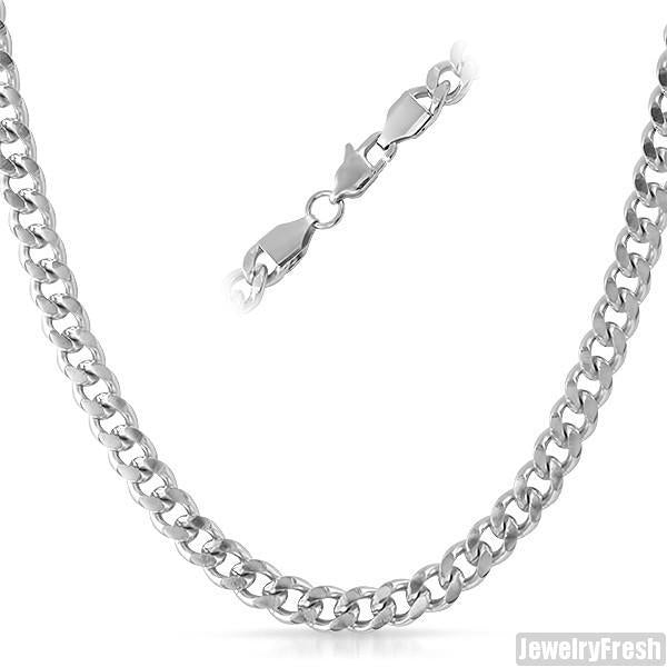 6mm Stainless Steel Cuban Chain Necklace